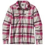 Patagonia women s ls fjord flannel shirt chrystaline bleached sto