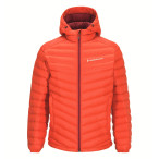 Peak performance men s frost down hooded jacket flame red