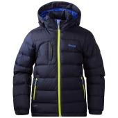 Bergans down youth jacket navy citrus warm cobalt