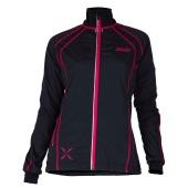 Swix start jacket womens black bright fuchsia