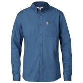 Fjallraven ovik solid twill shirt ls uncle blue