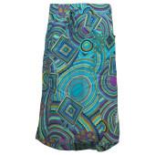Skhoop summer long skirt aqua pattern