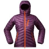 Bergans slingsbytind down lady jacket w hood plum koi orange pinkrose
