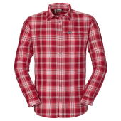Jack wolfskin gifford shirt men red fire checks
