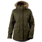 Didriksons covert women s jacket dark green