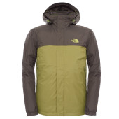 The north face m resolve down jacket grip green black ink green