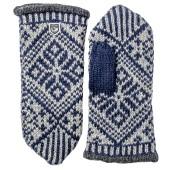 Hestra nordic wool mitt marine grey