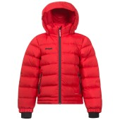 Bergans down kids jacket red solid charcoal