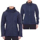 The north face w evolution ii triclimate jack cosmic blue