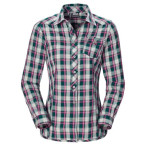 Jack wolfskin wichita shirt women teal green checks
