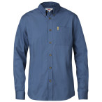 Fjallraven ovik solid twill shirt ls uncle blue