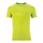 Ortovox merino cool print s sleeve m happy green