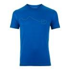 Ortovox merino cool print s sleeve m blue ocean