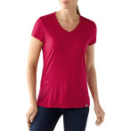 Smartwool w s s leaf v neck tee persian red