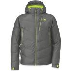 Outdoor research floodlight jacket men s pewter lemongrass