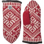 Hestra nordic wool mitt red offwhite