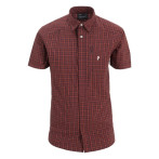 Peak performance gust checked ss shirt red checked
