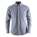 Peak performance gust checked ls shirt grey checked